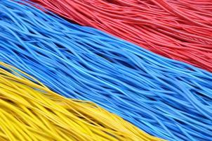 Multi-colored wires in computer networks
