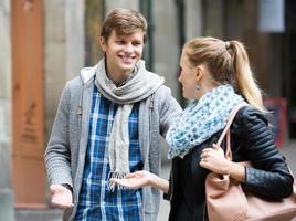 Flirting at the street photo