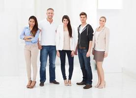 retrato de empresários confiantes