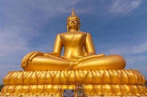 Big beautiful gold Buddha in Wat PhaThep Nimit