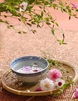 composition florale de spa