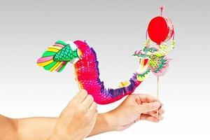 Paper dragon puppet photo