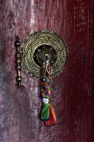Interiors of Buddhist monastery , circa May 2011, Ladakh, India photo