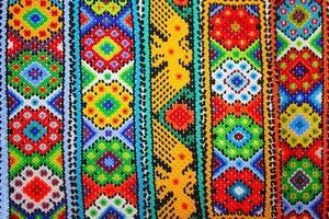 Aztecas sin costura patrones en xochimilco, mexico