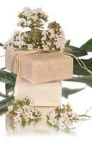 natural soaps with flower photo