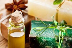 piezas de jabón natural