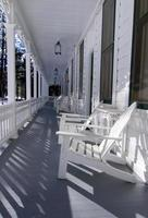 veranda dell'hotel