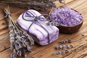 Lavender soap. photo