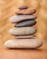 Stack of zen stones photo