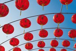 Chinese red lanterns photo