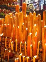 variety of yellow candles