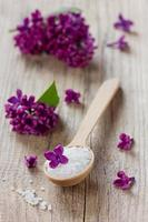 Spa composition n a rustic surface, aromatherapy photo