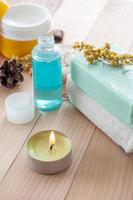 Spa sitting with handmade soaps