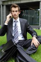 jovem empresário caucasiano