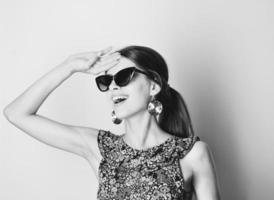 moda jovem mulher caucasiana.