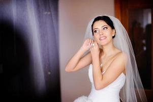 caucasian brunette bride photo