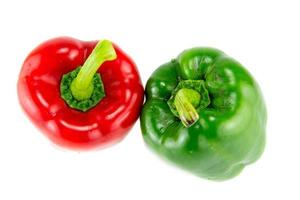 fresh bell peppers on white background photo