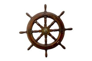 Isolated control wheel on white