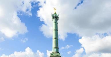 Plaza de la Bastilla en París durante el verano foto