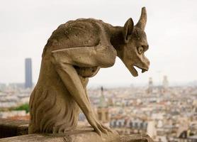 Chimera of Notre Dame de Paris. photo