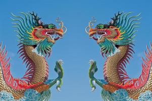 Dragón chino gemelo.