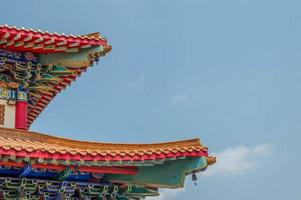 The Chinese Temple with The Sky photo