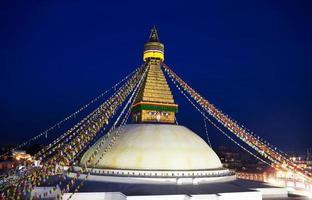 Estupa de Boudhanath en Katmandú, Nepal