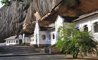 Dambulla cave temple in Sri Lanka