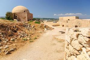 Ciudadela y mezquita, Rethymno Fortezza, Creta, Grecia
