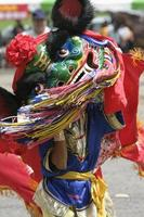 Children play lion dancing photo