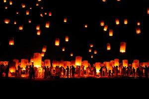 Unfounded  Loy Krathong and Yi Peng lantern festival , in Thailand