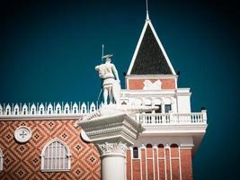 Arquitectura veneciana en Venecia, Italia en estilo retro