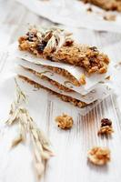 Homemade granola bars photo