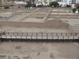 Aerial view of Huaca Pucllana in Lima