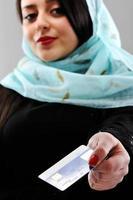 Retrato de mujer del Medio Oriente
