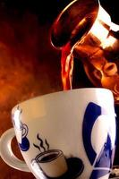 Pouring fresh Greek - Turkish coffee 2