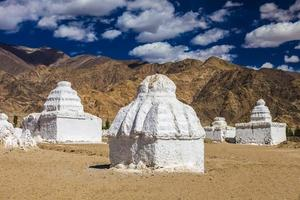 Many stupas photo