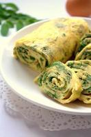 Omelette Egg Roll with Moringa