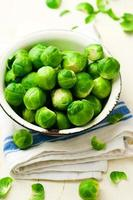 Brussels sprout in a bowl