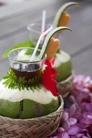 fresh coconut drink photo