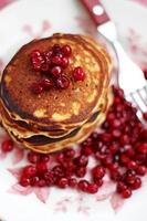pancakes with whole wheat flour with cranberries photo