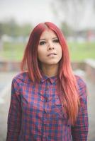 young beautiful red hair venezuelan woman lifestyle