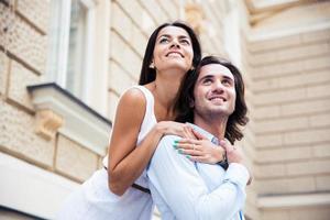 retrato de una pareja romántica foto