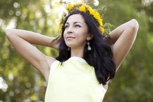Beautiful woman in the park photo