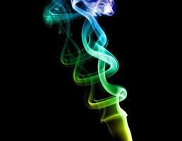 Bright colored smoke