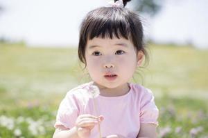 Little girl of Japanese