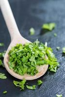 Wooden Spoon with Parsley