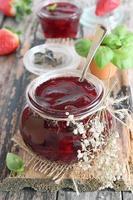 Homemade strawberry jam photo