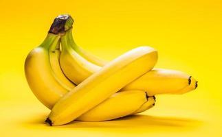 bunch of ripe bananas closeup