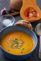 Delicious butternut squash soup photo